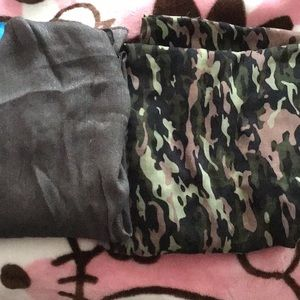 NWOT Icing camouflage silver glittery scarf